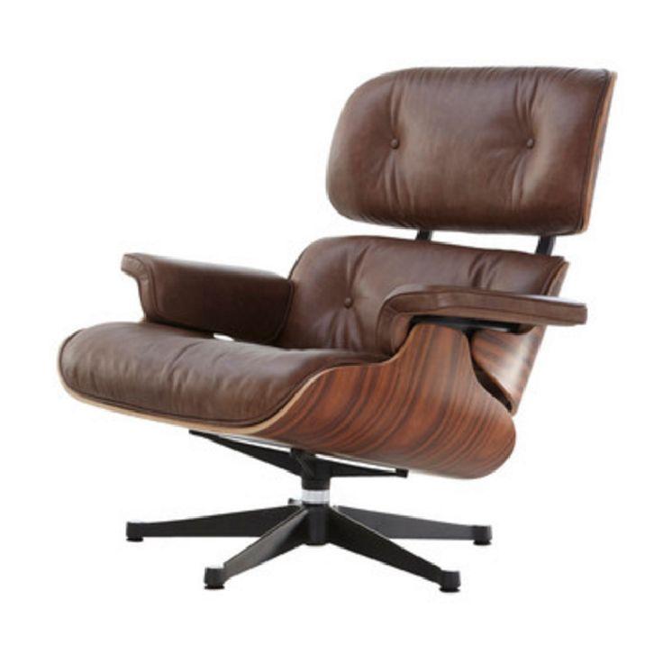 Designové křeslo Lounge chair hnědá / ořech