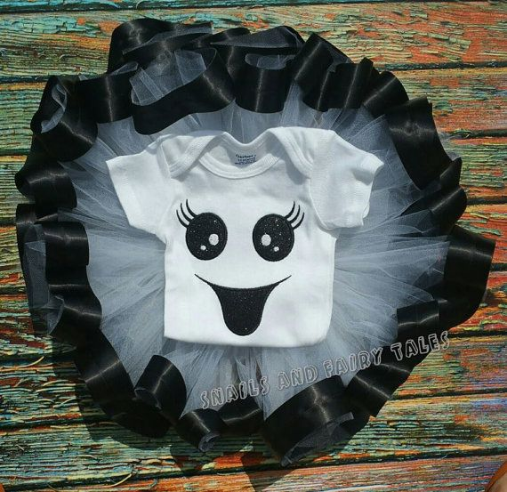 Halloween fantasma traje cinta ajuste tutú conjunto por SFTBoutique