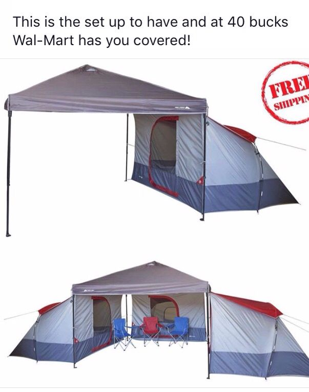 love this set up for tent camping!