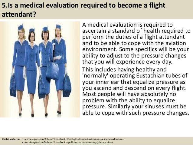 Top 10 flight attendant interview questions answers pdf