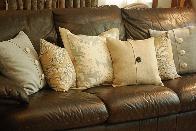 45 Best Leather Couch And Pillows Images On Pinterest
