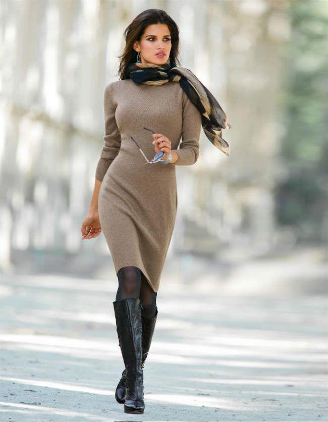 Madeleine, Tricot jurk, de aangenaam dragende, aansluitende jurk