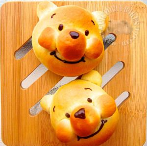 Mini Winnie The Pooh Chocolate Custard Bun Recipe (Victoria Bakes - Baking Into The Ether)
