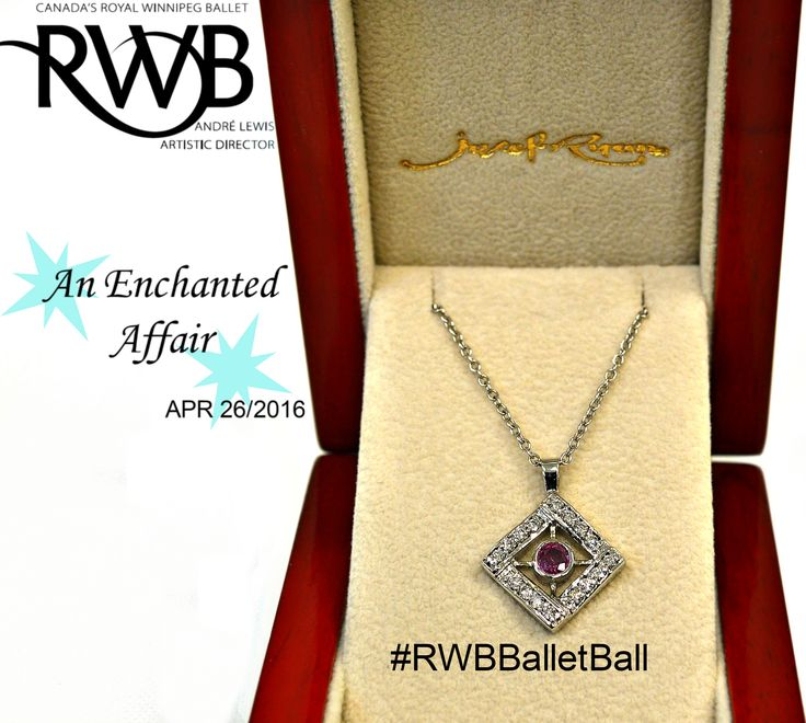Enter to win this 14k White Gold Natural Pink Sapphire & melee diamond pendant at this years Ballet Ball #RWBBalletBall