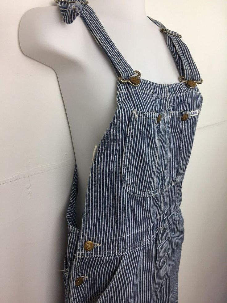Lee Bib and Braces Overalls Size 10 Blue and White Striped   #Lee #Overalls #any