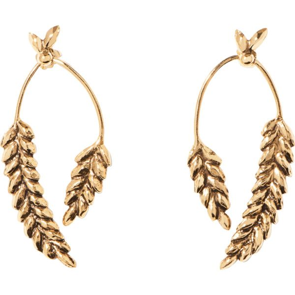 2 cobs Wheat earrings Aur v0AVKWuUZ