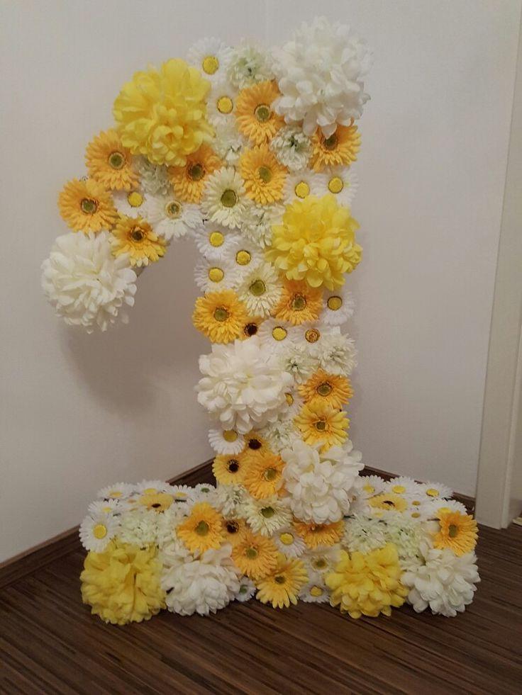 DIY, Papatya konsepti, 1 yaş, dogum günü, geburtstag, birthday, flower power
