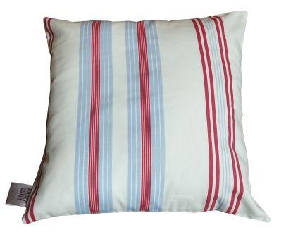 Lulu nautical stripe cushion coastal interiors cornish handmade seaside home