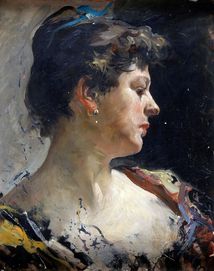 Woman in Profile, by Joaquín Sorolla y Bastida