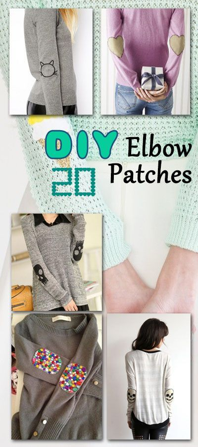 20 DIY Elbow Patches                                                                                                                                                                                 More