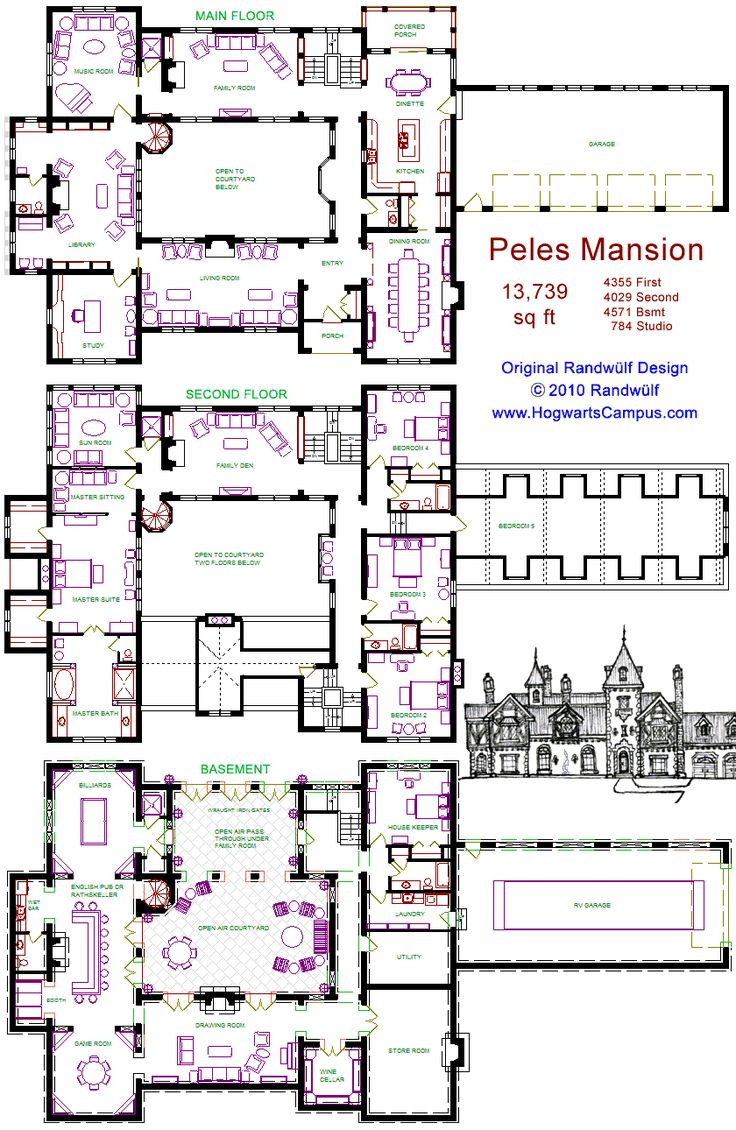 Mega mansion house plans -  Mega Mansion House Plans