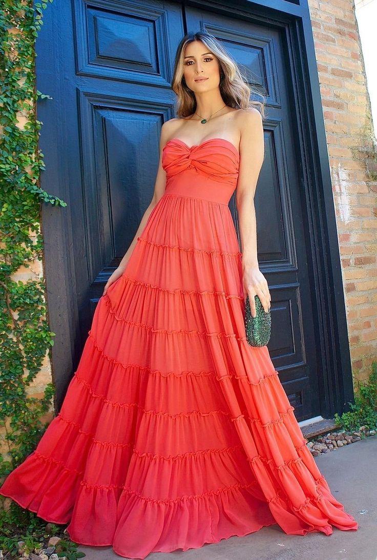 Vestido para convidada: 80 vestidos para convidadas de casamento, formatura e outros…   Vestidos para casamento convidada, Vestido vermelho para casamento, Vestidos