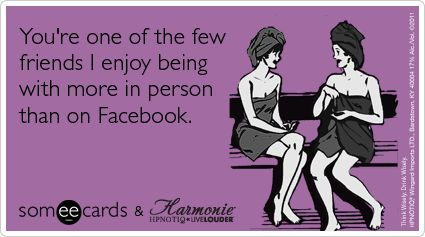 tee hee...unfortunately most of my friends I have to chat with via FB :-(