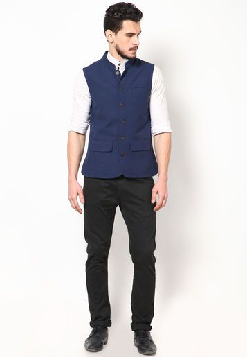Although not available online right now, this nehru jacket is really and comfort wear. Parikrama Navy Blue Sleeveless Nehru Jacket - Buy Men Ethnic Jacket Online | PA363MA12VNBINDFAS