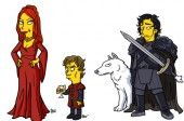 Juego de tronos Jon Tyrion Melissandre Simpson 600 x 400