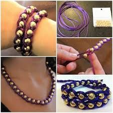 Resultado de imagen para pulseras de cordon y perlas paso a paso en español