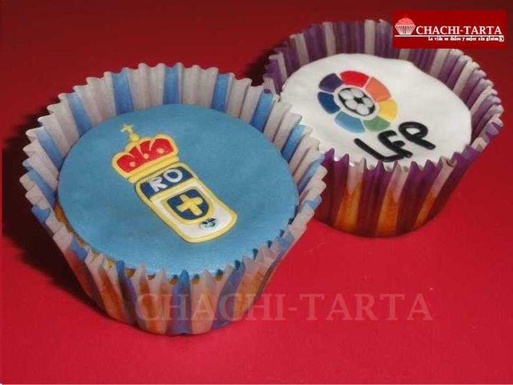 "Cupcakes decorados: ""Real Oviedo"" (sin gluten)"