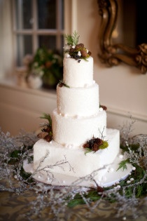 wintery cake      Style Me Pretty | Gallery