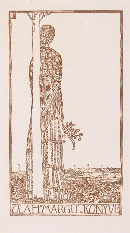 Ex Libris by Lajos Kozma
