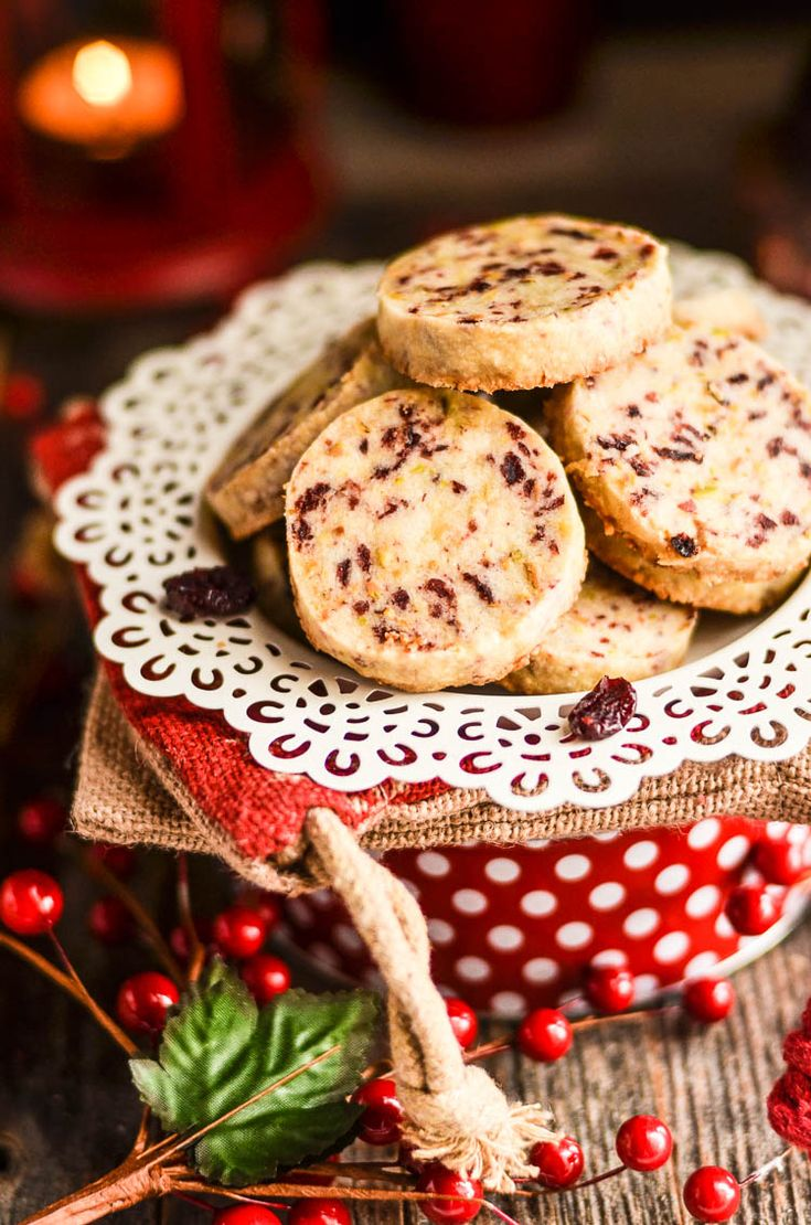 Cranberry Pistachio Shortbread Cookies perfect for the holidays