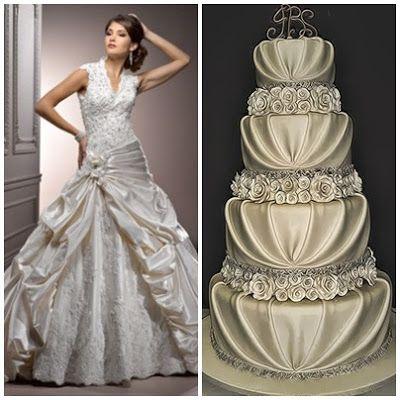 Trouwjurk met bruidstaart combinatie van www.honeymoonshop.nl