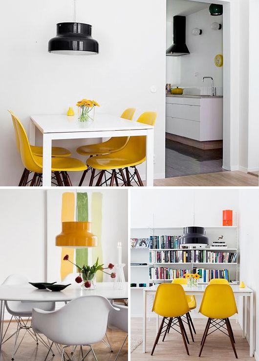 El color #amarillo le da #luz a las estancias y las hace más luminosas. Por ello, te aconsejamos utilizarlo en las piezas más sombrías de tu casa. Además de luz, también aporta profundidad, dando una mayor sensación de amplitud a las habitaciones.