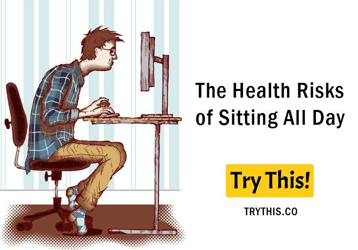 The Health Risks of Sitting All Day What Happens to Your Body When You Sit All Day? The human body is not designed to sit eight hours or more in a day. Too much sitting and being inactive is definitely bad for your overall health. This may lead to serious health problems, especially if the person does not exercise and eat unhealthy foods. Most often, people don't have a choice because their job requires them to sit down for many hours each day. Their lifestyle choices can also be a factor…