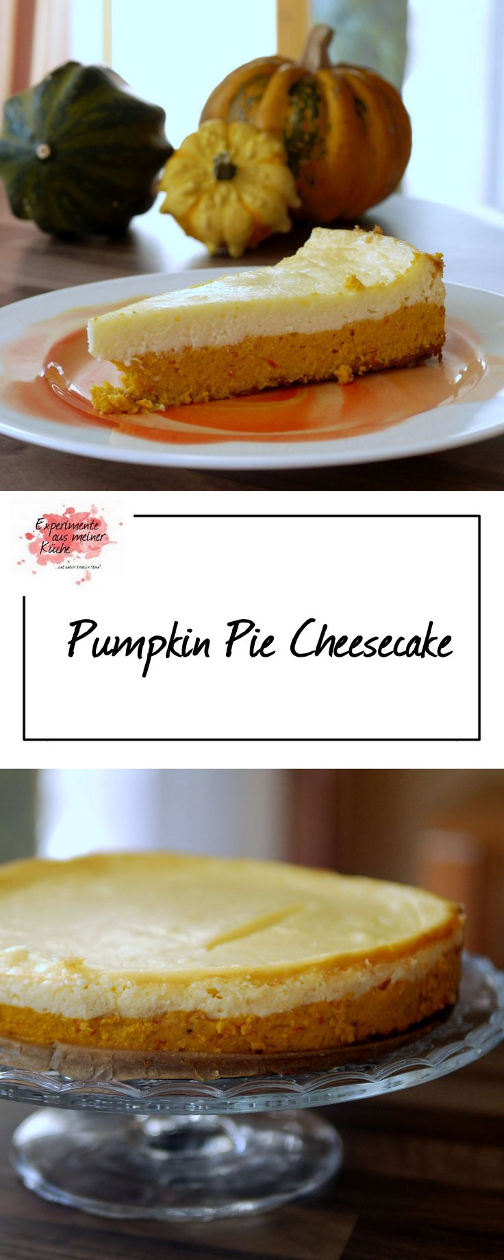 Pumpkin Pie Cheesecake | Rezept | Backen | Kuchen | Kürbis