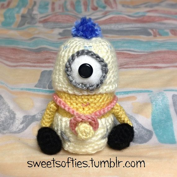 Baby Minion Doll (Plush, Plushie) from Despicable Me  AMIGURUMI CROCHET PATTERN by Sylemn Sweet Softies