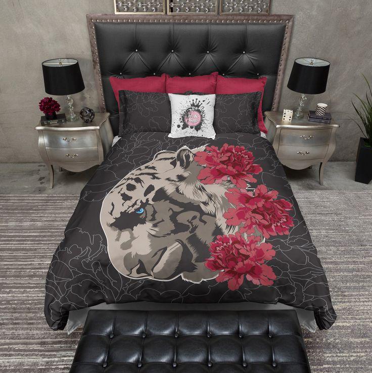 Leopard Rose Duvet Bedding Sets