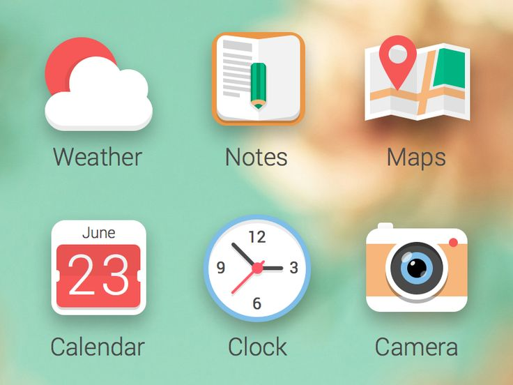 Flat Icons / Flat Design / Icons / Pictograms / Symbols / Icons concept by Michael Sharanda