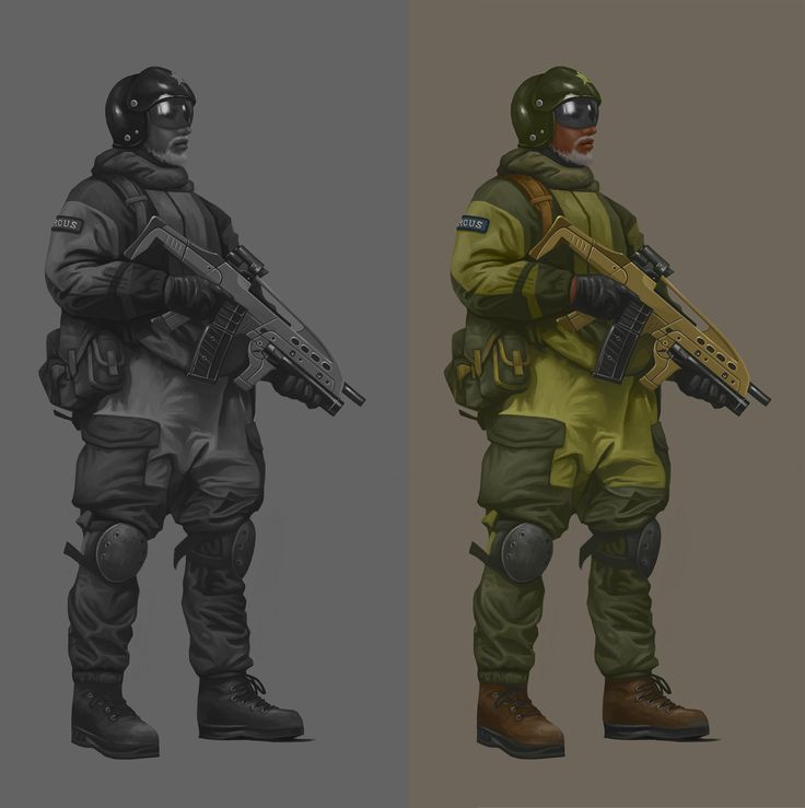 FPS soldier character