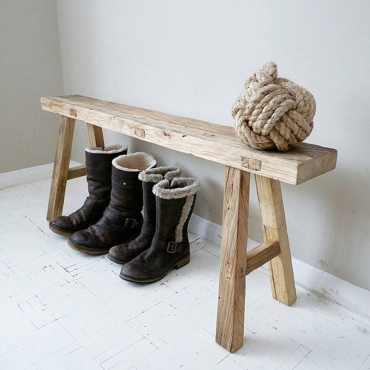 reclaimed oak bench by cooper rowe vintage living   notonthehighstreet.com