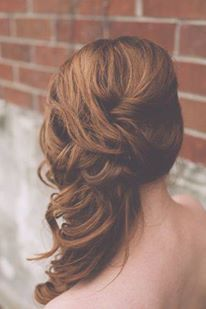 wedding hair for open back dress