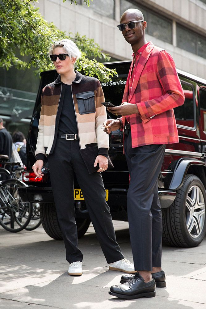 The best street style outside London Collections: Men Spring 2017.