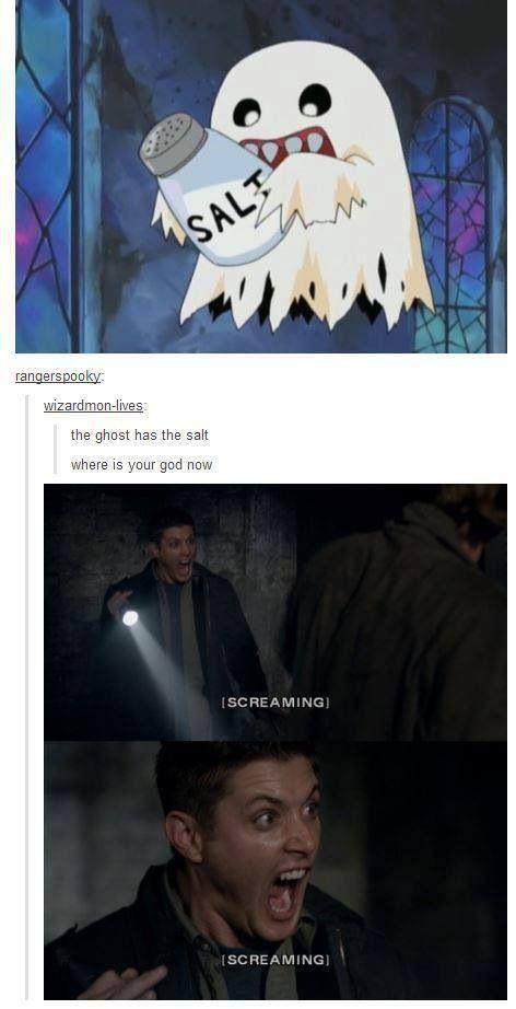 Dean Winchester even screams seductively