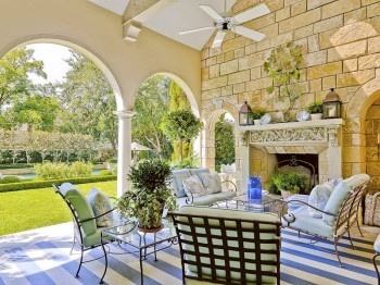 pretty porches and patios the arches and brick fireplace give a mediterranean feel to this - Pretty Porches And Patios
