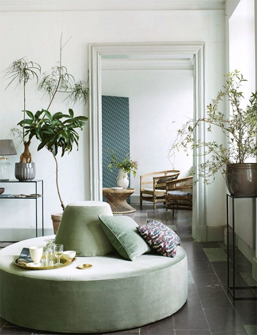 round ottoman and indoor plants                                                                                                                                                                                 More