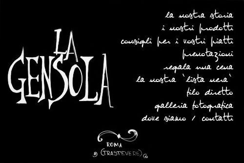 Osteria La Gensola - Roma - Trastevere