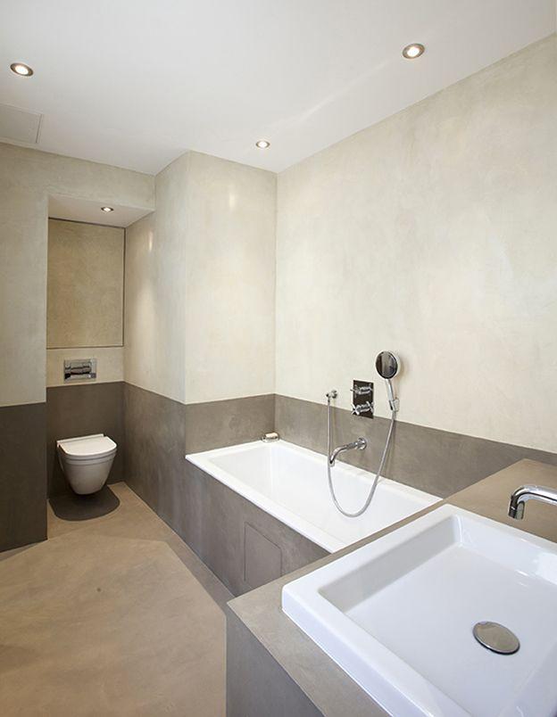 mercadier enduit beton colore ebc salle de bains couleurs moket et amande salles de bains. Black Bedroom Furniture Sets. Home Design Ideas