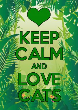 KEEP CALM AND LOVE CATS . ❤️