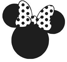 MINNIE MOUSE EARS DECAL STICKER DISNEY WINDOW CAR LAPTOP CHOOSE COLOR