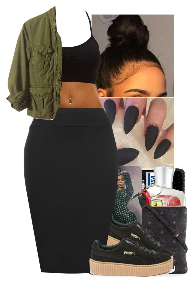 """""""💚😁"""" by jasmine1164 ❤ liked on Polyvore featuring Puma, WearAll, Charlotte Russe and G-Star"""