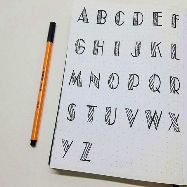 Es war Zeit für ein anderes Alphabet, also hier ist es! 😀 Einen schönen Tag noch! 😘