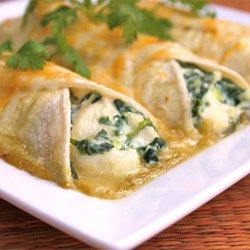 LOVE THIS - Spinach Enchiladas - Allrecipes.com - family loves these, especially my youngest on and myself.... but all of us think they are really good! (the next few things are to try with these wonderful enchiladas....)
