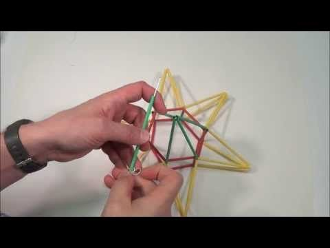 United Art and Education Original Art Project: Learn how to create a striking Himmeli (a traditional Finnish ornament) Star Mobile using straws and string! http://www.unitednow.com/product/10696/himmeli-star-mobile-project-71.aspx