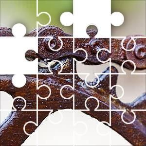 Chain & Sprocket Jigsaw Puzzle, 80 Piece Classic. A bicycle roller chain on its