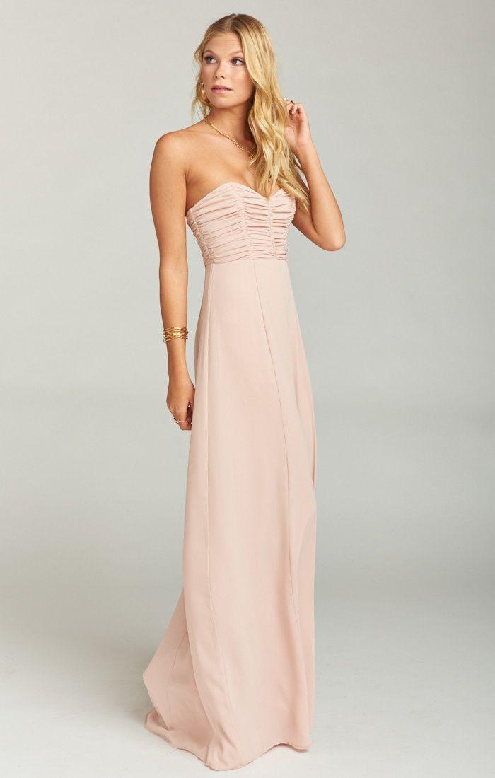 b804c37960ae New strapless blush pink bridesmaid dresses from Show Me Your Mumu - Bonbon  Strapless Dress ~ Dusty Blush Crisp #affiliate #blush #bridesmaid ...