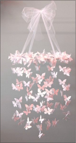 Paper butterfly chandelier