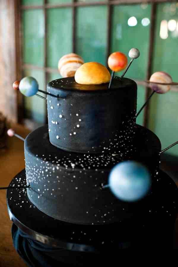Solar System cake.